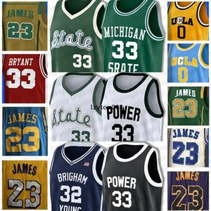 mejor Earvin 33 Johnson NCAA Michigan State LeBron 23 James 33 Bryant 33 Lew Alcindor Russell Jersey Westbrook James 13 Harden 34 Mitche