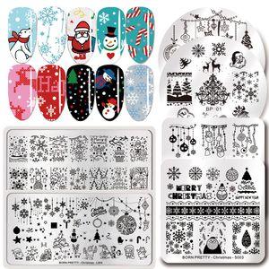 Nail Stamping Plaques inoxydable modèle en acier de Noël Plate Stamp Nail Art image bricolage Design Tool