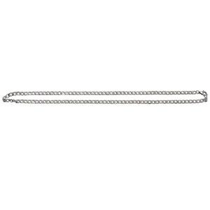 Collana in acciaio inossidabile Uomo largo Curb catena a maglia, argento, 5 mm di larghezza, lunghezza 48 centimetri (con Gift Bag)