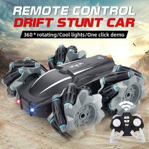 2.4G Nouveau à grande vitesse 4 roues motrices RC Drift Stunt Car Model Remote Control garçons voiture Jouets pour enfants RC voiture