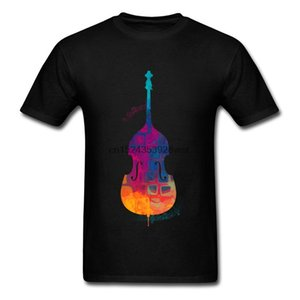 Rock N Roll Men T-shirts Double Bass Color Guitar Personalized Tops Tees Club Crazy Tshirt Summer Fashion Casual T Shirts 3XL
