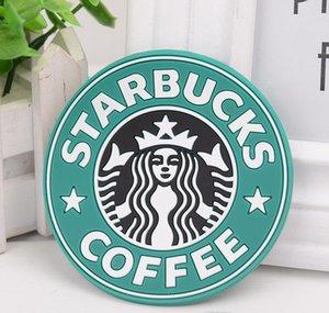 Кубок Starbucks колодки Круглый логотип Mermaid 8.3cm Coaster кофе Маты Krakens Placemats Японский Кубок силикона Starbucks bbyRi mj_bag