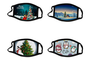 Christmas Santa Claus Merry Christmas Masks Xmas Face Masks Anti Dust Mouth Cover Washable Reusable With Filter Party Masks