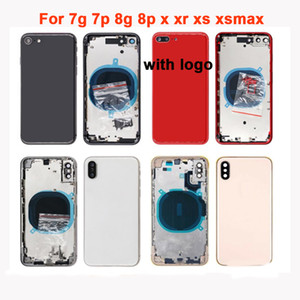 Best housinng For iphone 7 plus 8 8plus X XR XS XSMAX Back glass Middle Frame Chassis back Housing Assembly Battery Cover door
