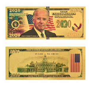 Free Shipping Biden Commemorative Coin 2020 U.S. General Election Supplies 24K Gold Foil Banknote Currency Head Plastic Creative Coin OWF938