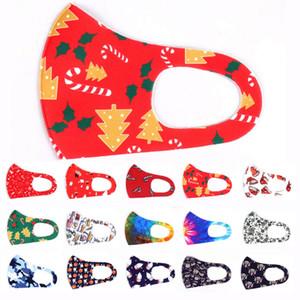 메리 할로윈 얼굴 마스크 성인 다채로운 인쇄 패션 얼굴 마스크 크리스마스 마스크 방진 안개 니트 마스크를 세척