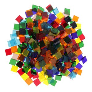 160g Assorted Color Clear Glass Mosaic Tiles For DIY Crafts