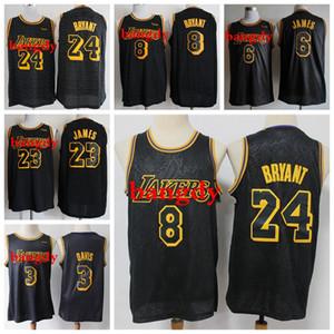 NegroMamba para hombre de Los ÁngelesLakersKobeBryantNBA Lebron James 23 de la piel de serpiente camisetas edición limitada de los jerseys del baloncesto