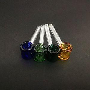 классические стеклянная карманная труба молоток формы курительная трубка 3,26 дюйма мини Galss труба прямая трубка многоцветный выбор GKpe #