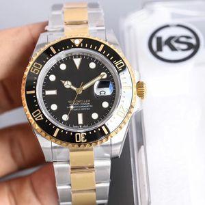KS Montre DE Luxe лидирующий часы Мужские часы 43 мм из нержавеющей стали Мужские часы 3135 Движение Автоматическое движение Мужчины Часы rolex