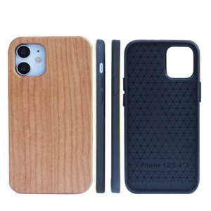 OEM الخشب الهاتف القضية للحصول على اي 12 11 الموالية ماكس XR XS 8 PLUS حقيقية الكرز نحت غطاء مكافحة ضرب أفضل مصنع الجودة