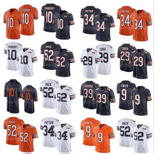 Chicago52 Khalil Mack Bears34 Jersey Walter Payton 10 Mitchell Trubisky 29 Tarik Cohen Männer Frauen Jugendliche 39 Eddie Jackson