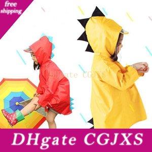 후드 어린이 노란색, 빨간색 모양의 귀여운 공룡 휴대용 소년 소녀 방풍 방수 착용 할 수있는 외투의 일종 어린이 Bh0752 Tqq을 레인 코트