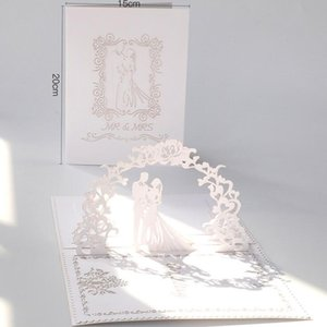 New Laser Cut Wedding Invitations Cards For Bridal Engagement Party Greeting Cards 3D Hollow Out Invitation Letter Wedding Supplies