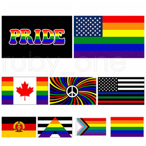 3x5fts Philadelphia Phily Flags Straight Ally Progress LGBT Rainbow Gay Pride Flag American Banner 90x150cm 9styles RRA3462