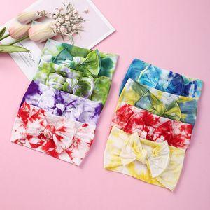 23 stili Bambini Bow Tie Dye fasce ragazze di Bowknot Hairbands nylon molle fascia elastica degli accessori dei capelli per i bambini M2558