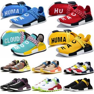 Adidas 2020 NMD Human Race Hommes BBC Chaussures de course avec la boîte Pharrell Williams Sample Femmes Jaune Noir Chaussures de sport de base 36-45
