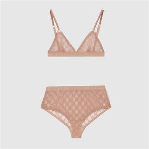 Ultimo merletto bikini sexy classico senza giunte Lettera Bra Set Moda traspirante Costumi da bagno per le donne 2 colori