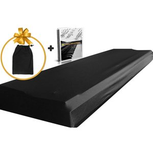 61 a 76 teclas dobrável Elastic Início Piano capa lavável Dustproof teclado virtual