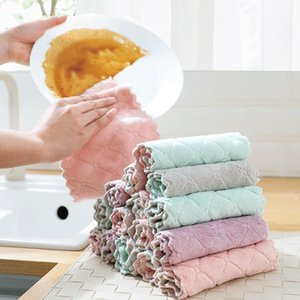 Reusable Microfiber Cleaning Cloth Super Absorbent Dish Towel Home Kitchen Oil and Dust Clean Wipe Rag Kitchen Supplies