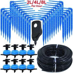 Irrigação por gotejamento 4-way 3/5 mm Drip Arrow 2-way transmissor de irrigação Sistema de Rega para Pot Jardim Lawn 2 4 8L