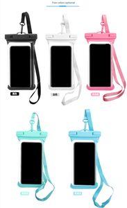 IPX8 30m plongée étanche cas sac transparent pouces de téléphone mobile de protection en PVC couvercle de protection surf de plage sac dérive