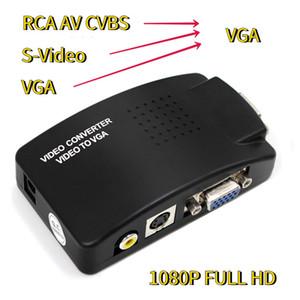 Цифровые кабели Аудио кабели AV для VGA адаптер RCA VGA конвертер PC Laptop Video TV RCA композитный S-Video AV In