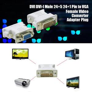 Cgjxsdvi Dvi -I Male 24 5 24 1 Pin To Vga Female Video Converter Adapter Plug For Dvd Hdtv Tv D