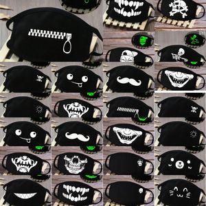 Bayanlar Yüz Koyu Halloween Skeleton Yarım Glow Kapak Muerte Kafatası Maske