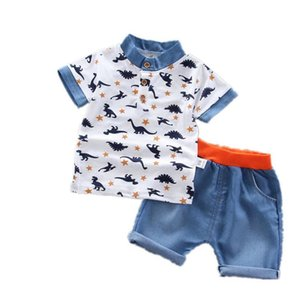 Baby Boys Clothing Sets Summer Cotton Dinosaur T-Shirt Children Boys Clothes Suit for Kids Outfit Shorts Outfit Infant