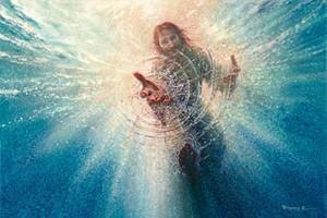 Yongsung Kim seu poderoso MÃO giclée arte impressa Jesus Estender a Mão na pintura a óleo de Water On Canvas Wall Art Home Decor 200824