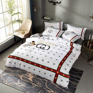 En iyi saling yatak takımları arı baskı kral yatak takımları levha nevresim seti yataklar sıcak satış kraliçe yastık örneğini kapsar