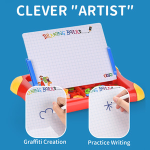 Erasable Magnetic Drawing Board for Kids Colorful Doodle Drawing Board Toys Gifts for Toddler Writing Sketching Pad easel tablet