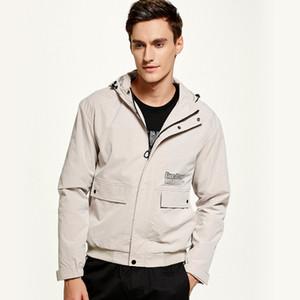 Sokak Stili Kapşonlu Ceket Erkekler Streetwear WINDBREAKER 2020 Sonbahar Yüksek Kalite Kargo Ceket Rüzgar Direnci Casual Palto Erkek