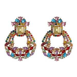 FASHIONSNOOPS Boho vidro Brincos para Mulheres Acessórios Vintage Cristal Big brincos jóia do casamento Pendientes Mujer