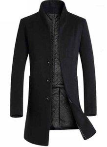 Kleidung Panelled Herren Designer Woll Jacken Mode Schlank Einreiher Herren Midi Wollmäntel Lässige Männer