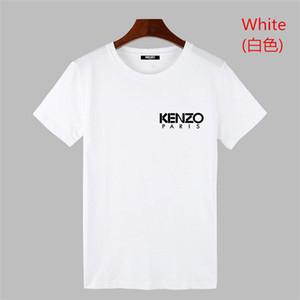ANJOS maré Kenzo Beleza grande PALM impressão volta em torno do pescoço T-shirt homens e mulheres 8 cores de manga curta