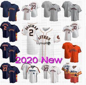 Ship2 livre Alex Bregman 2020 Astros Jersey Jose Altuve Yordan Alvarez Carlos Correa Justin Verlander George Springer Brantley Zack