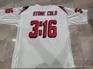 De Hombres Stone Cold Steve Austin # 03:16 Publicado equipo azul blanco tamaño de la universidad de New s-5XL o costumbre cualquier nombre o el número del jersey