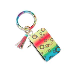 8 Designs Маленький круглый молния брелок кошелек кожаный брелок Zipper монет Чехол кошелек LJJA1762