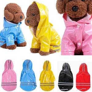 Pet Köpek PU Yağmurluk Ceket Coat Su geçirmez Hoodie colthes Köpek Kıyafet S-XL Süper Pet yağmurluklar Soğuk