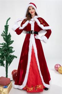 2020 Xmas Christmas Adult Ladies Mrs Santa Dress Costumes