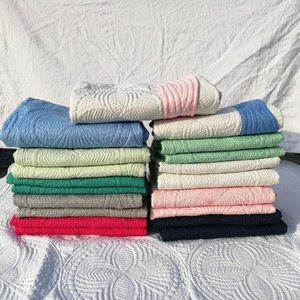 100% Cotton Baby Quilted Blankets Monogrammed Shower Cover Wraps Cotton Baby Muslin Newborn quilt