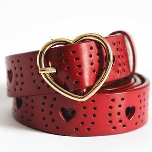 cow leather high quality women belt jeans fashion cowhide female strap heart-shaped pin buckle wasitband free shippin