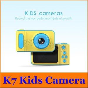 كاميرا cgjxs K7 الاطفال 2 0.0 بوصة الصور الرقمية ومسجلات كاميرا الفيديو 1080p HD كارتون الأطفال لطيف كاميرا هدية عيد ميلاد للمنازل السفر فتاه