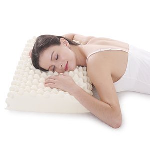 Orthopedic Massage Latex Pillow for Sleeping Neck Pain Relief Cervical Bed Soft Pillow for Side Sleepers