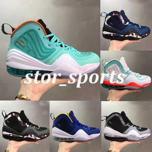 nike foamposite shoes Penny Hardaway 5 5S capa de invisibilidade V sapatos Mens tênis de basquete Verde Azul OG Camo Esporte formadores Designer Sneakers Tamanho 40-46