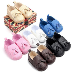 DHL 50pair First Walkers Toddler Prewalker Shoes Baby Boy Girl Pu Tassel pendant Leather Shoes