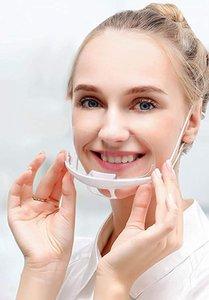100PCS profesionales transparentes Máscaras cobertura sanitaria anti Permanente Niebla Catering Food Hotel plástico Máscaras Kitchen