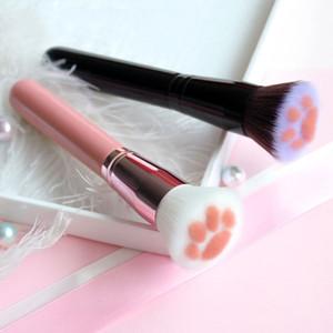 Makyaj Fırçalar İşlevli 1 adet Güzellik Makyaj Aracı Kedi Vakfı Fırça Kapatıcı Allık Maquiagem